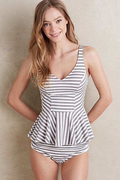 5fe12f40f6 Allihop Scoop-Back Peplum Bikini Top | fashion | Peplum swimsuit ...