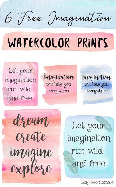 6 free imagination watercolor printables imagination watercolor