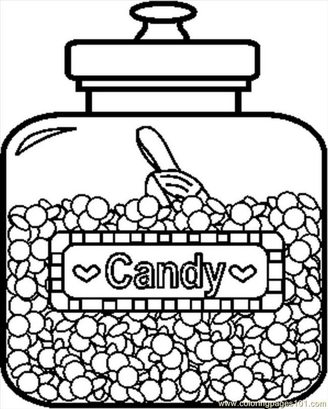 Candyjar1bw Coloring Page Free Printable Coloring Pages Candy