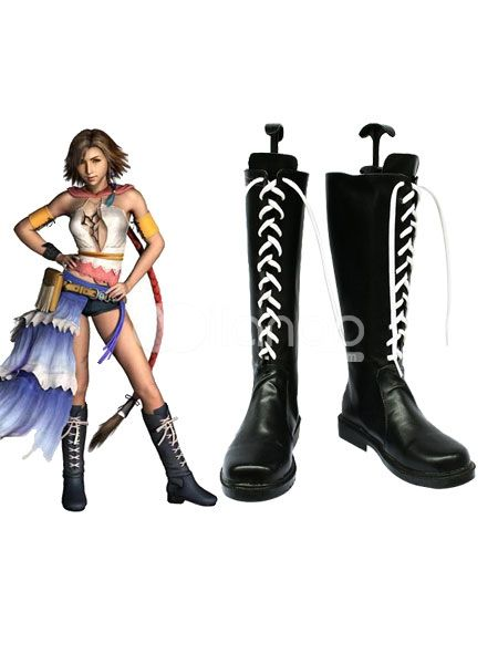 Final Fantasy Imitated Leather Cosplay Shoes $50.99