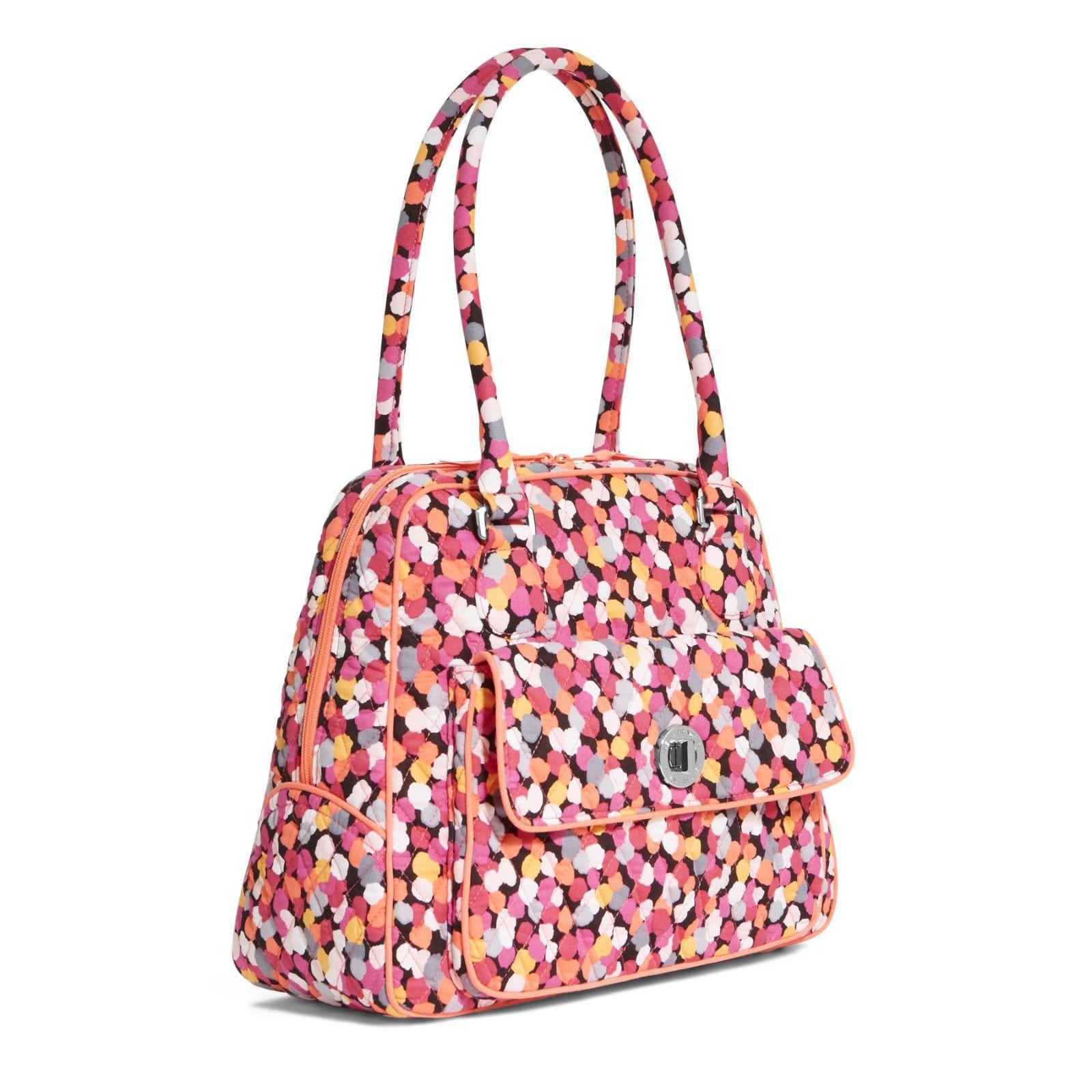 15663e863a Vera Bradley Pixie Confetti Turnlock Satchel Purse Bag NWT Satin Interior   82
