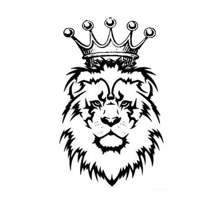 tribal lion with crown tattoo google search pinteres rh pinterest com crown tattoo tribal queen crown tribal tattoos