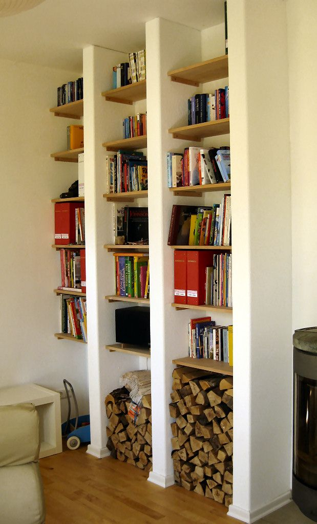 einbauregal in metallst nder bauweise bauanleitung zum ideen rund ums haus pinterest. Black Bedroom Furniture Sets. Home Design Ideas