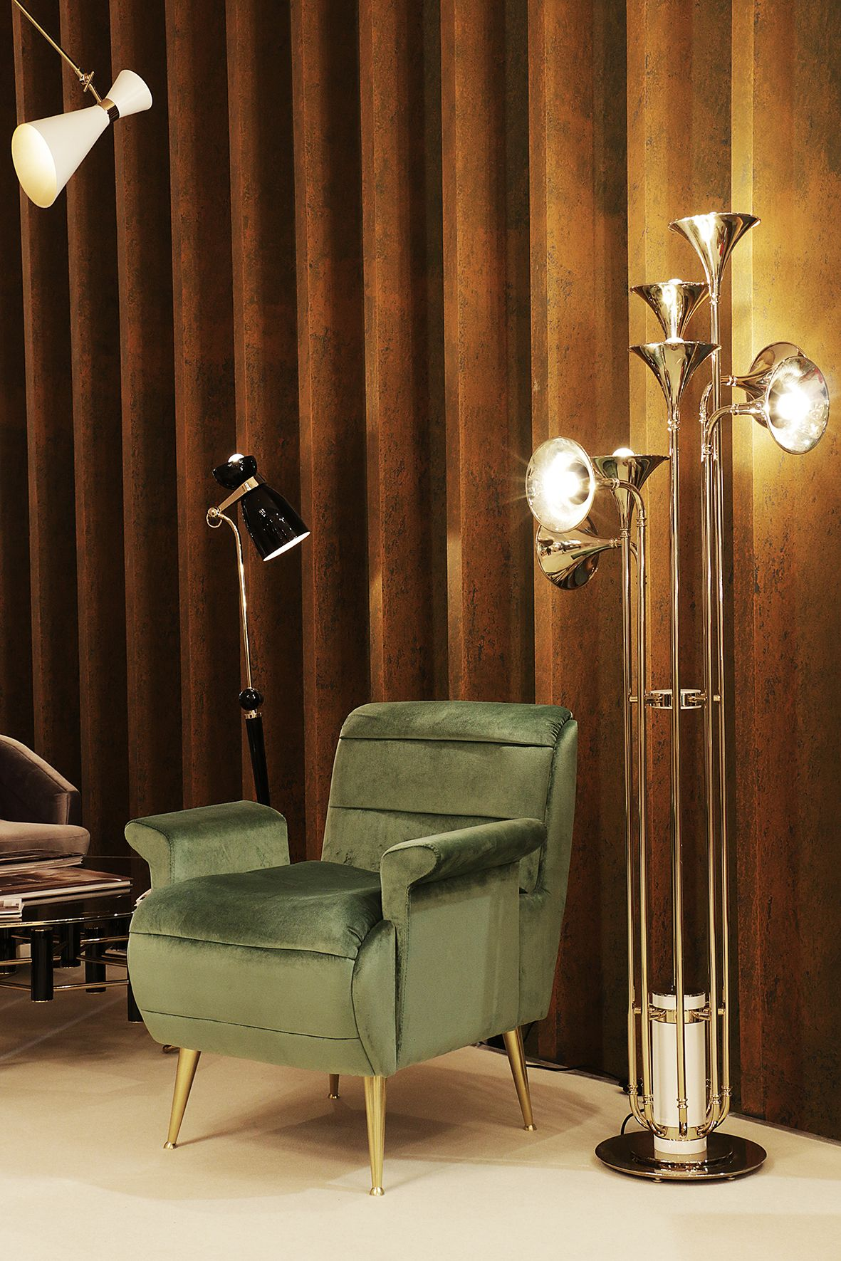 Delightfull S Botti Floor Lamp Is Also Available At The Exhibition Living Room Lighting Floor Lamp Design Contemporary Floor Lamps