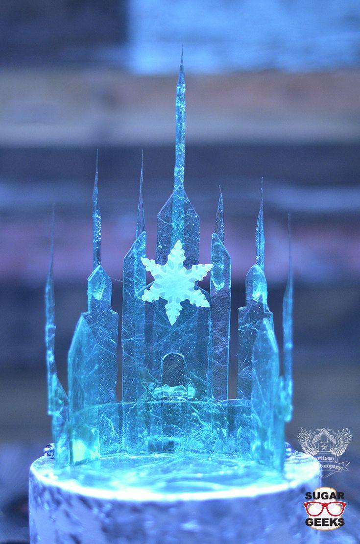 Easy Elsa Frozen Topper Tutorial Frozen Birthday Cake Frozen Castle Cake Frozen Castle