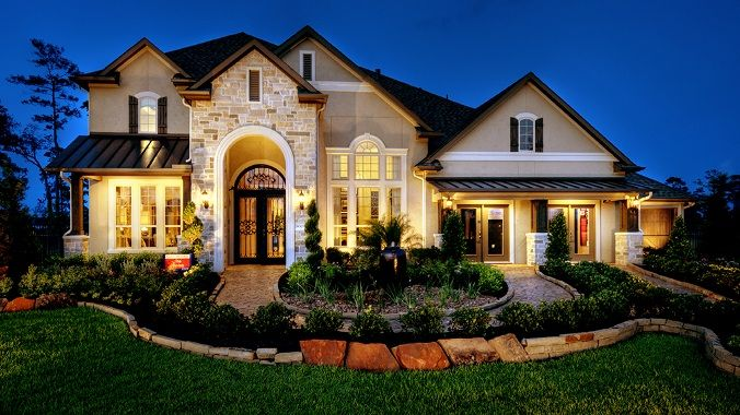 Love this exterior taylor morrison dream home for Beautiful homes in houston