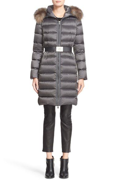 87987f4a8b66 Moncler  Tinuviel  Belted Down Puffer Coat with Removable Genuine Fox Fur  Trim available at  Nordstrom