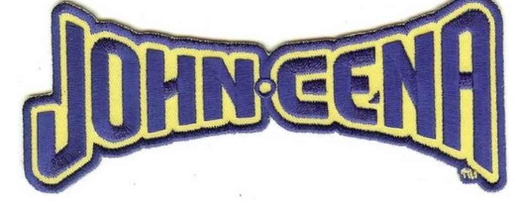 John Cena Iron On Patch Letters Logo Wwe Wrestling John Cena Wwe Wwe Logo