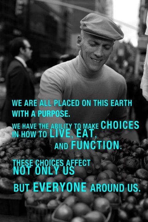 Live consciously.