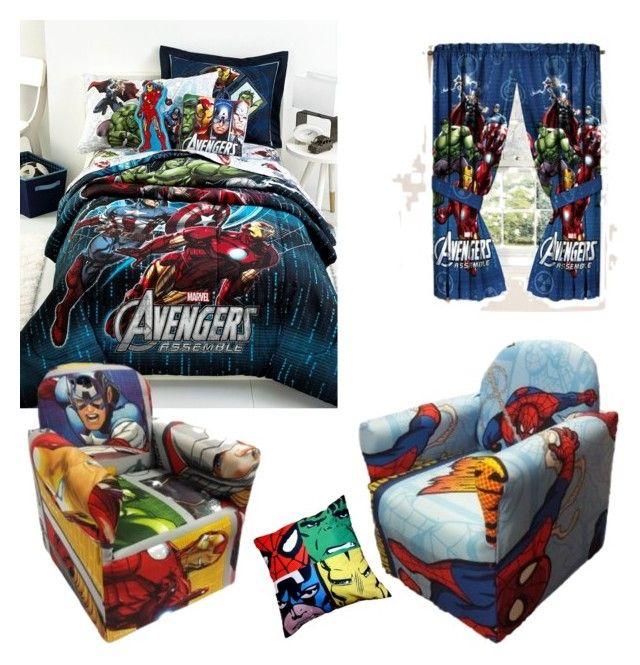 """marvel"" by marvelnerd01 ❤ liked on Polyvore featuring interior, interiors, interior design, home, home decor, interior decorating, Disney and Marvel Comics"