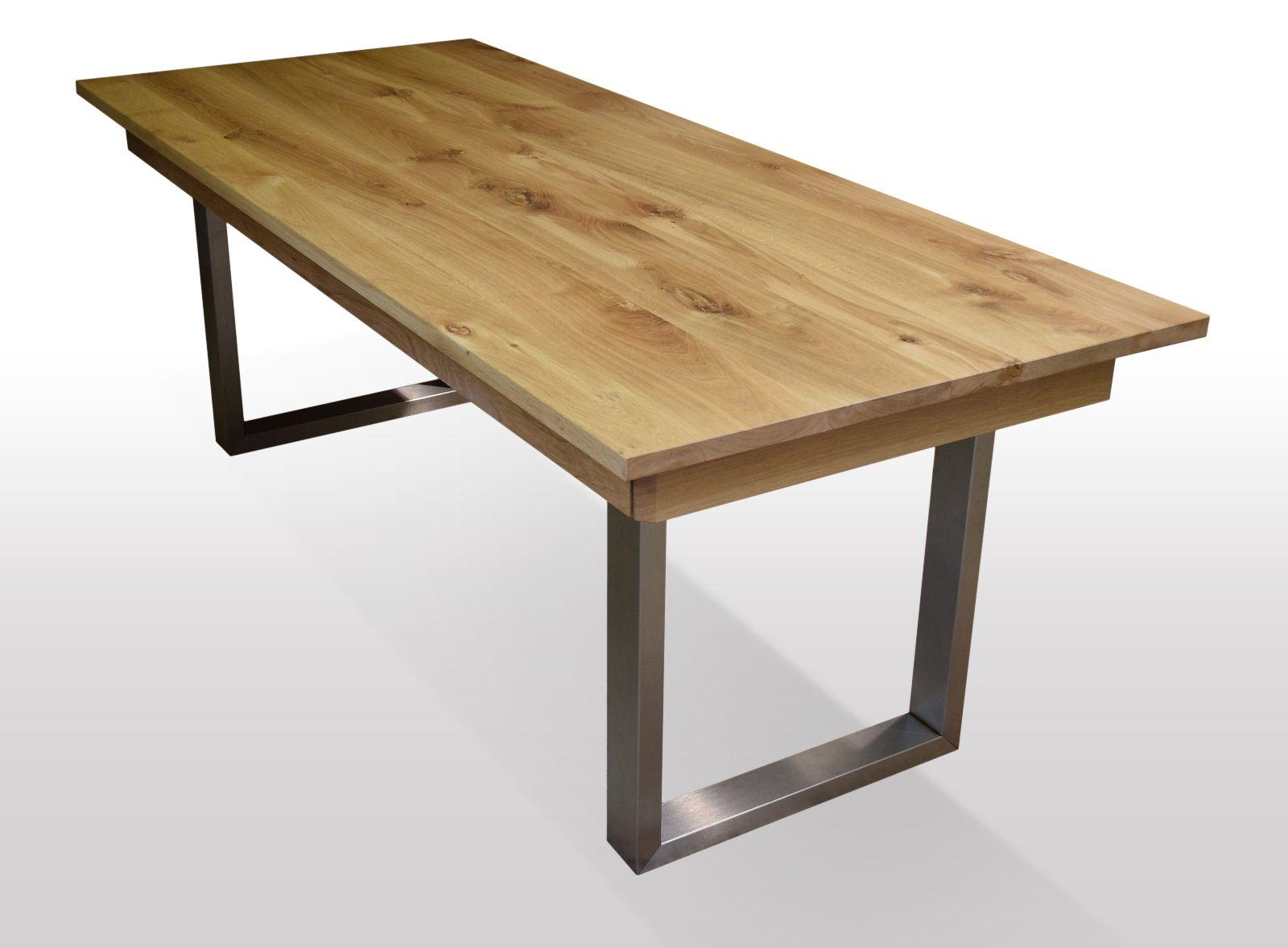 Tisch Wildeiche massiv Breite 110cm / Länge wählbar