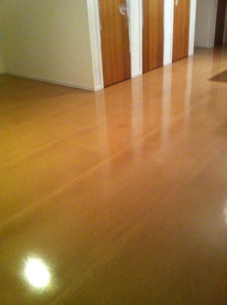 Masonite Floor Sanded And Two Packed