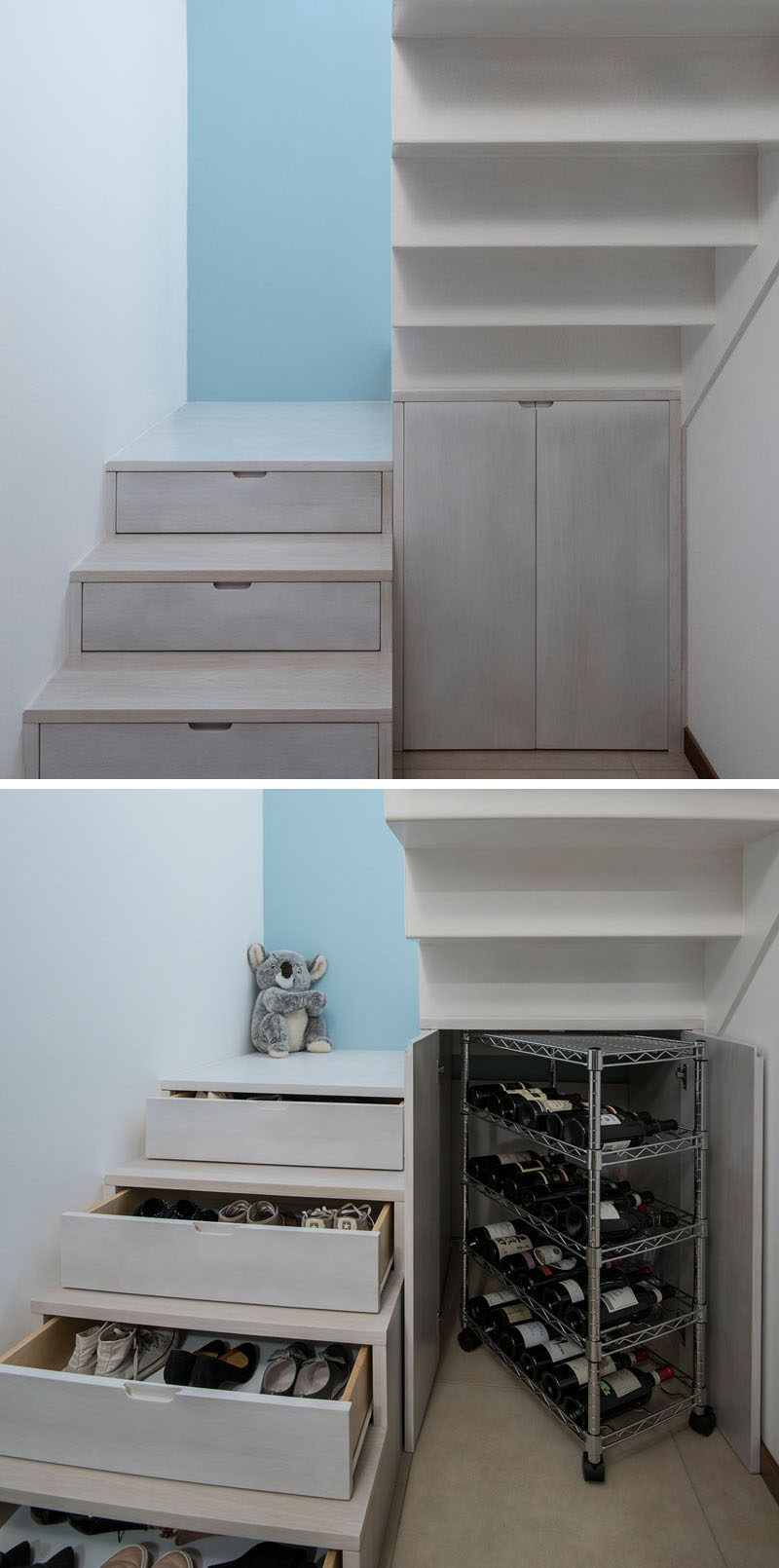 Stairs Design Idea - Hide Shoe And Wine Storage Within Your Stairs & Stairs Design Idea - Hide Shoe And Wine Storage Within Your Stairs ...