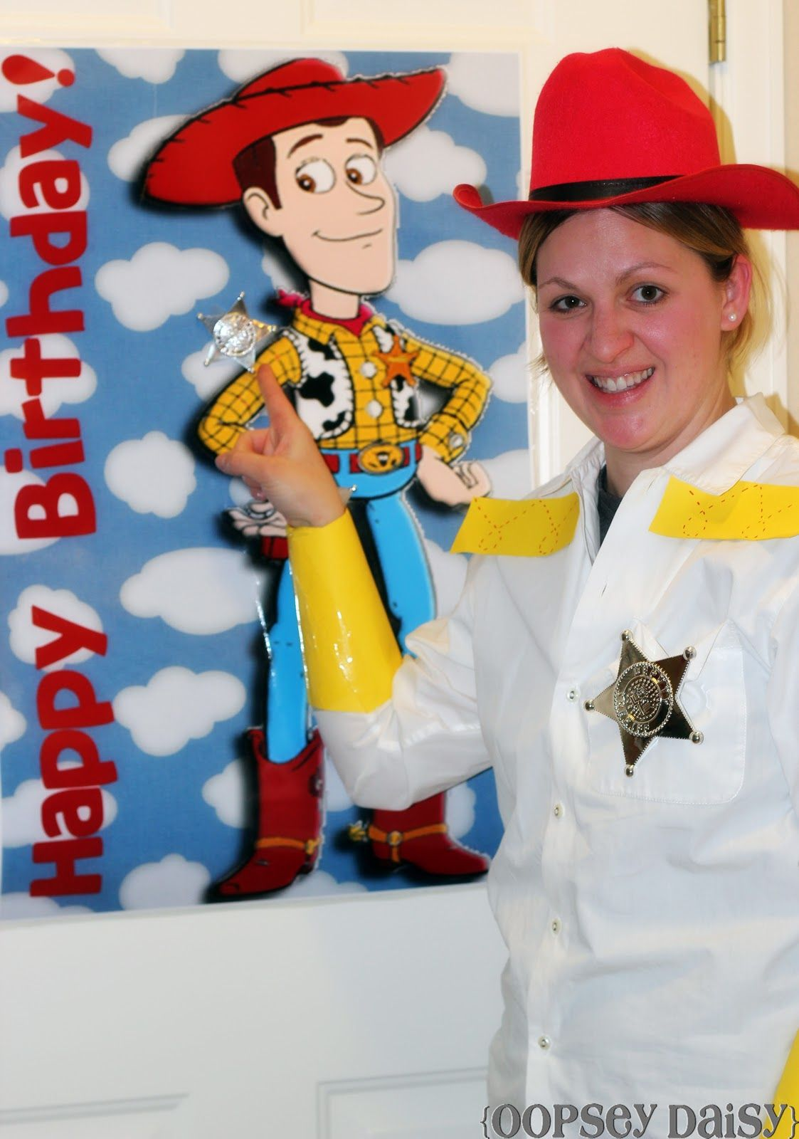 Pin The Badge On Woody Game Toy Story Birthday Party Oopsey Daisy Toy Story Birthday Party Toy Story Birthday Disney Birthday Party