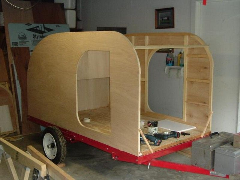 Build your own teardrop trailer from the ground up | Small trailer