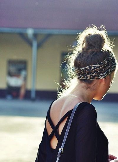 topknot + scarf///