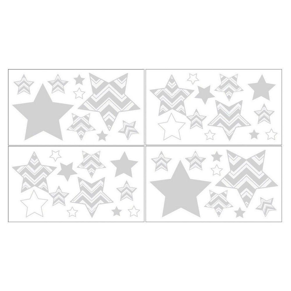 sweet jojo designs chevron zig zag wall decal stickers