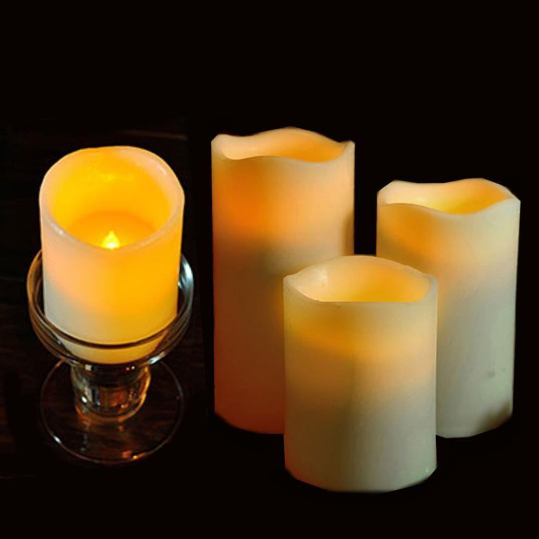 cylindrical flickering led candle light smokeless christmas