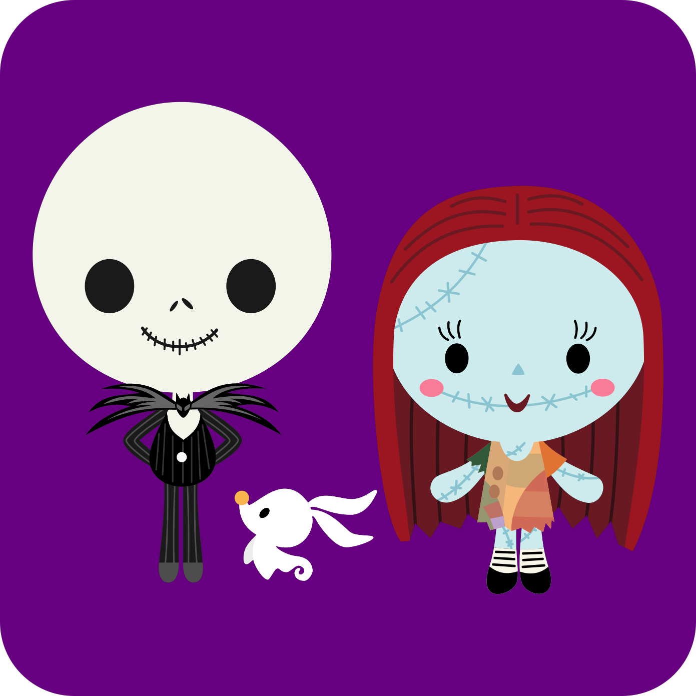 Here\'s a chibi version of Disney / Pixar Nightmare Before Christmas ...