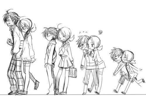 Childhood Friends Turned Together Forever Anime Drawings Anime Love Art