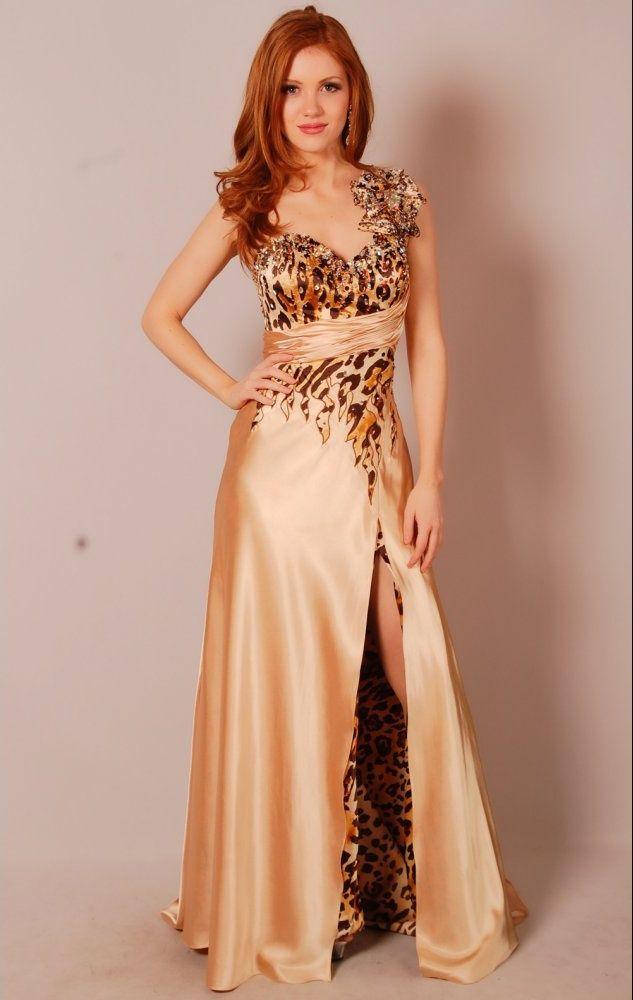 Leopard Evening Gowns Home Evening Dresses Leopard Detail