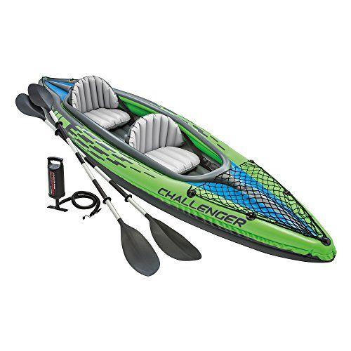 Amazon Intex Challenger K2 Kayak 2 Person Inflatable Kayak Set With Aluminum Oars And High Output Air Pu Kayak Accessories Inflatable Kayak White Water Kayak