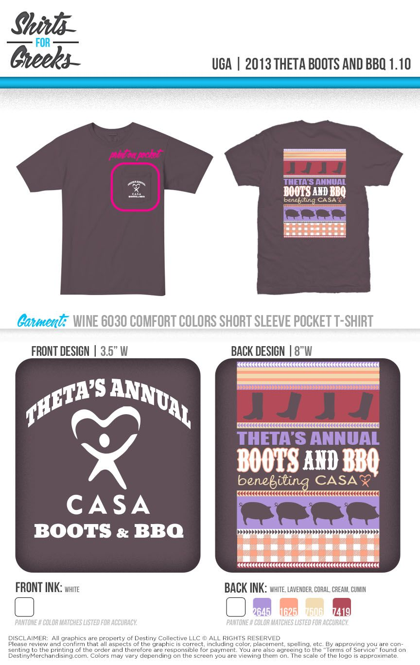 Bbq Gamma Uga Kappa Alpha Theta Boots And Bbq Shirts For Greeks Www