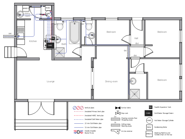 ductwork layout house tap water supply plumbing and piping plans ...