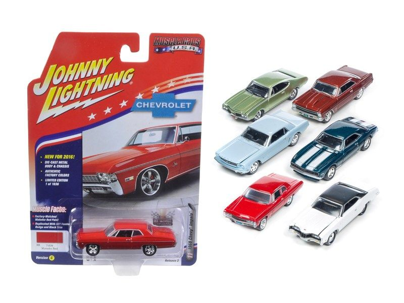 Muscle Cars Usa Set Of Cars Diecast Model Cars Johnny