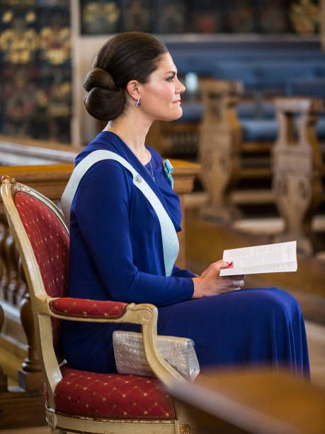 Crown Princess Victoria of Sweden attends the Royal Patriotic Society's annual event at Riddarhuset on April 25 2017 in Stockholm Sweden