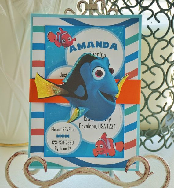 Finding Dory Invitation Finding Nemo Invitation By Toocuteinvites