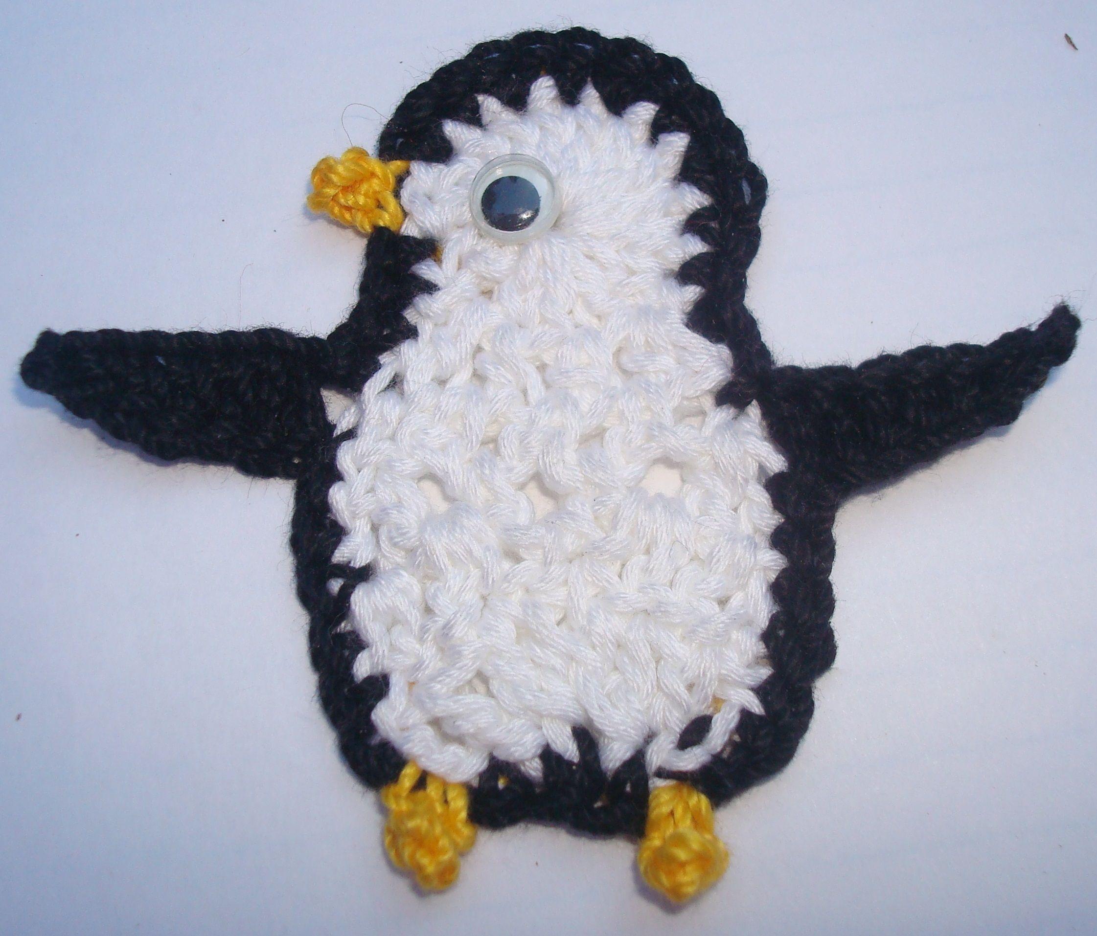 Crochet Penguin Applique | Craft Ideas | Pinterest | Labores