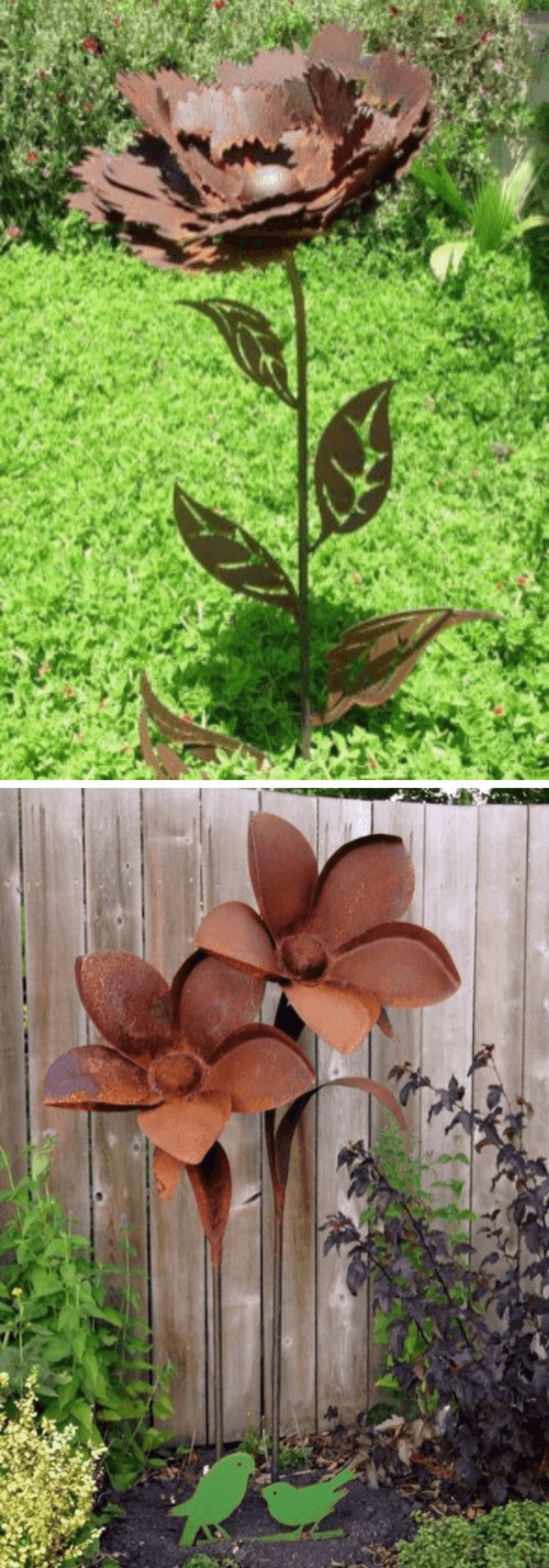 12+ Creative Rusty Metal Garden Decor Ideas & Projects For ...