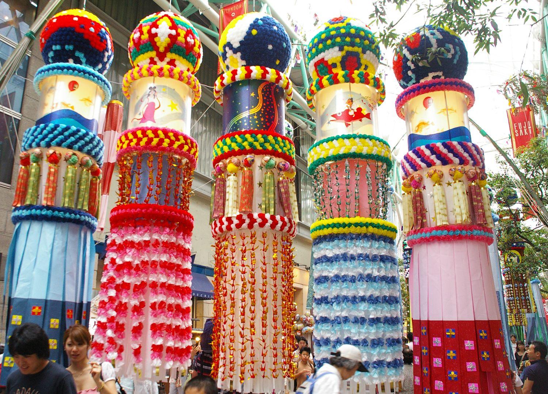 sendai tanabata decorations