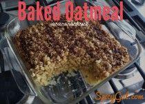 Baked Oatmeal Recipe | Gluten Free - Weight Watchers Points | SpicyGal.com |