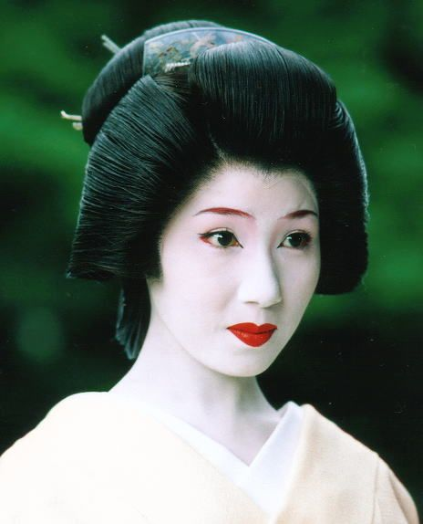Geisha Japon Cheveux Geisha Geisha Coiffures Japonaises