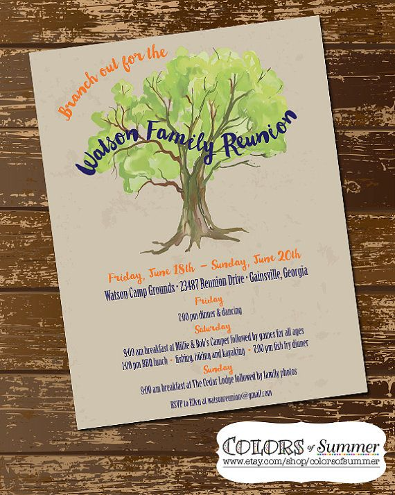 Family Reunion Invitation, Family Reunion Flyer, Family Tree - family reunion flyer