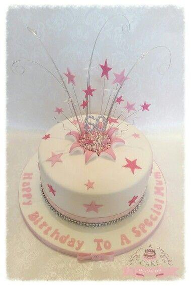 Star Explosion Cake 21st Birthday Cakes Bithday Teen Girl