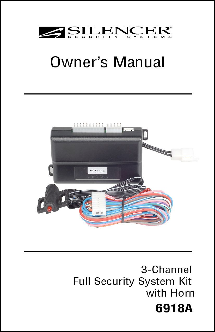Silencer 6918a Owner S Manual Installation Manual Owners Manuals Manual