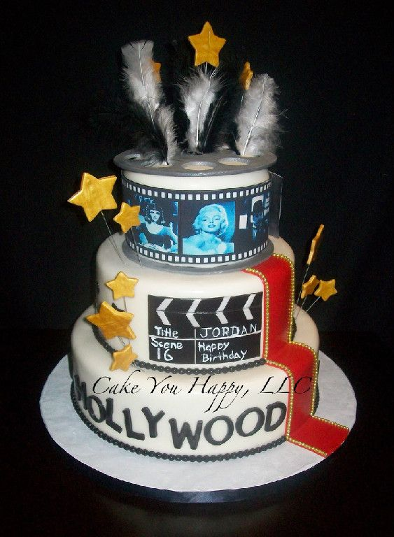 Incredible Old Hollywood Birthday Cake Taart Funny Birthday Cards Online Alyptdamsfinfo