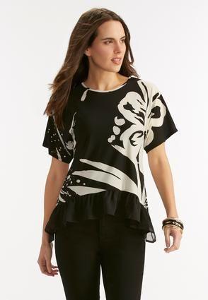 d6d57e3b728 Cato Fashions. Fashion TopFashion IdeasPlus Size TopsTropicalKnit TopsTrendsMy  StylePrintingShops