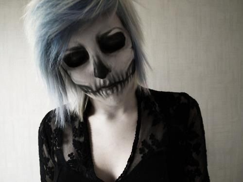 Emo Scene Hair Skull Makeup I Totally Would Love This For