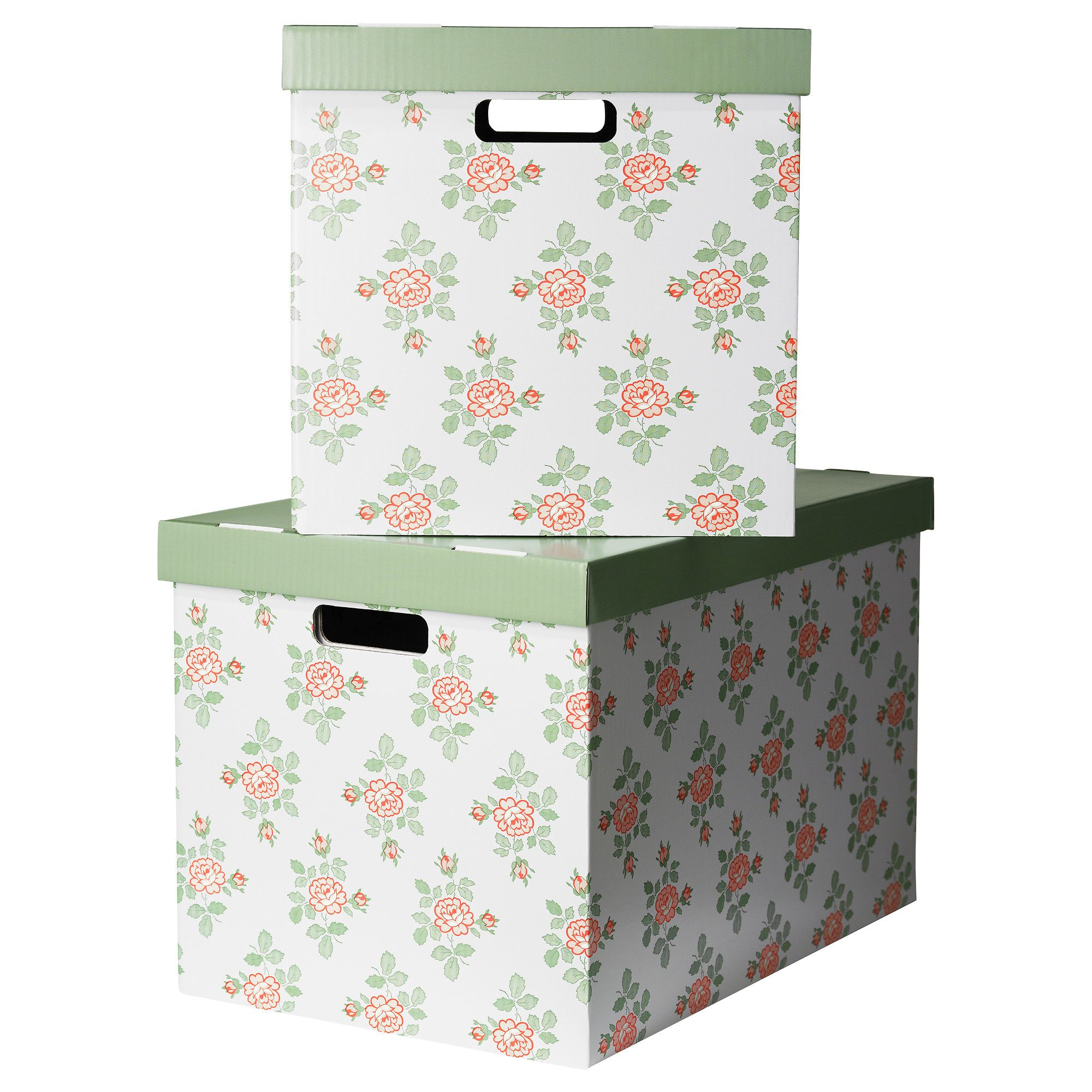Pingla Box With Lid  Flowers, Cm  Ikea For