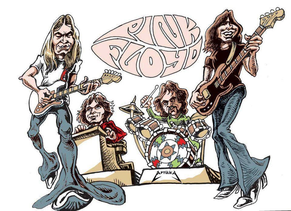 Caricature rock n roll art caricature pink floyd