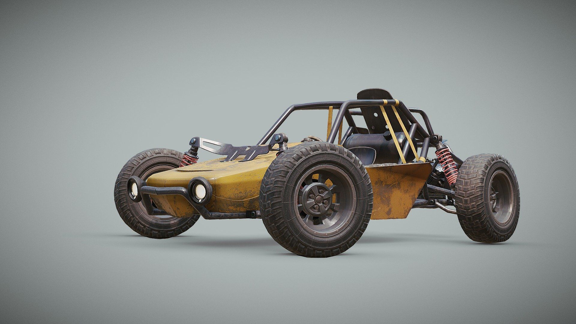 3d Model Playerunknown S Battlegrounds Buggy By Kmiklas: PUBG: Buggy (Official) By Karolmiklas