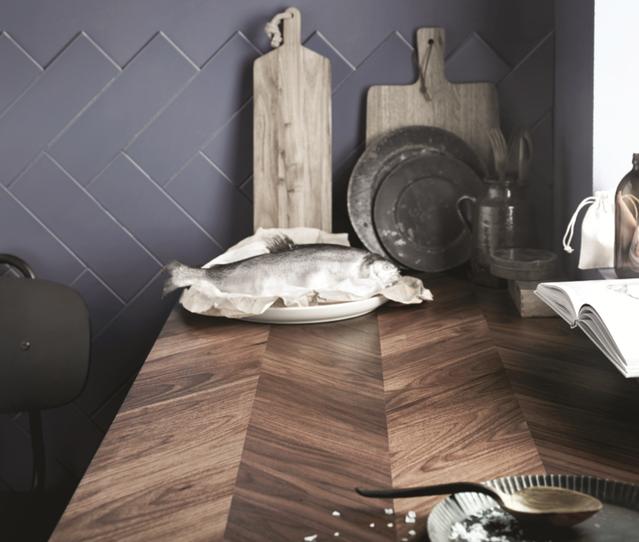 1 Barkaboda Wooden Herringbone Countertop Trending Decor Ikea