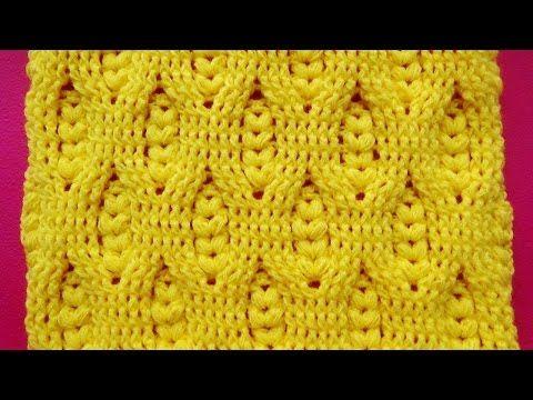 Hermoso Punto a crochet ganchillo con Relieves y puntos garbanzos ...