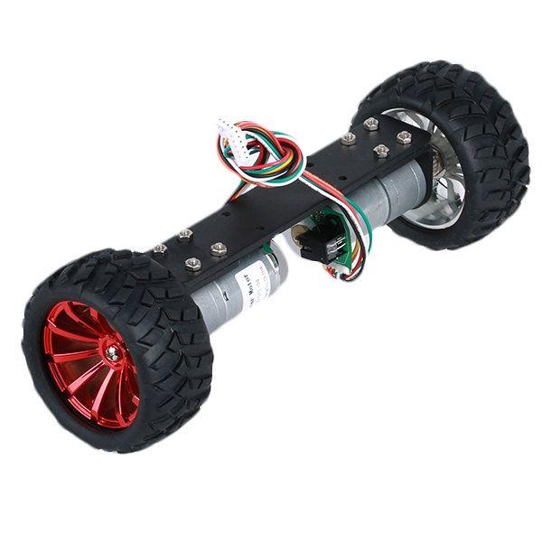 DIY JGA25-360 12V 1.25W Two Wheel Self Balancing Smart Robot Car ...