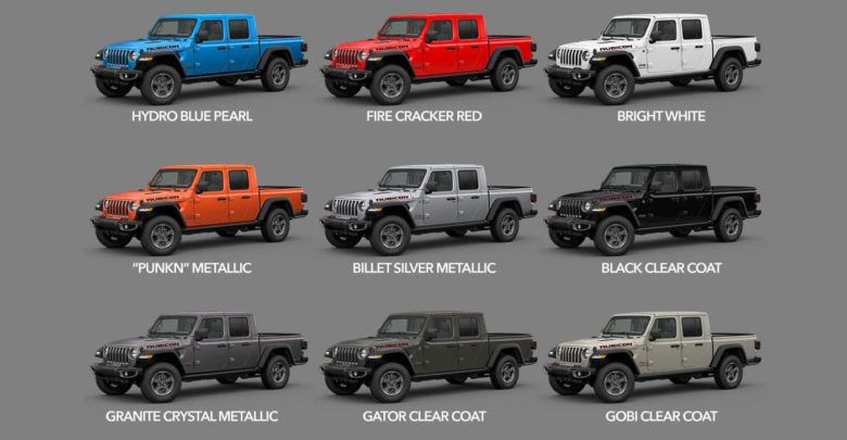 2020 Gladiator Colors Availability Dates Start Of Production 2020 Jeep Gladiator Jt News And Forum Jeepgladiatorforum C Jeep Gladiator Jeep Truck Jeep
