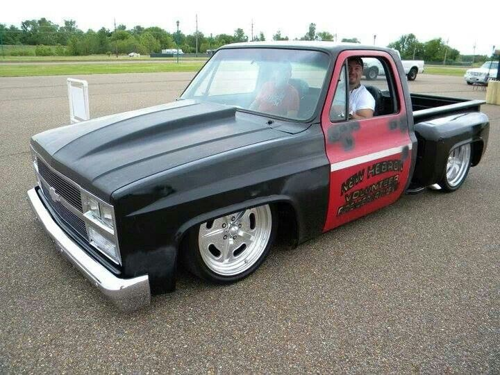Yes But More Prominent Cowl Induction Hood Cover No Red Rotor Matte Black Fine Phantom Grill Mind Gloss Black Chevy Stepside C10 Chevy Truck Dropped Trucks